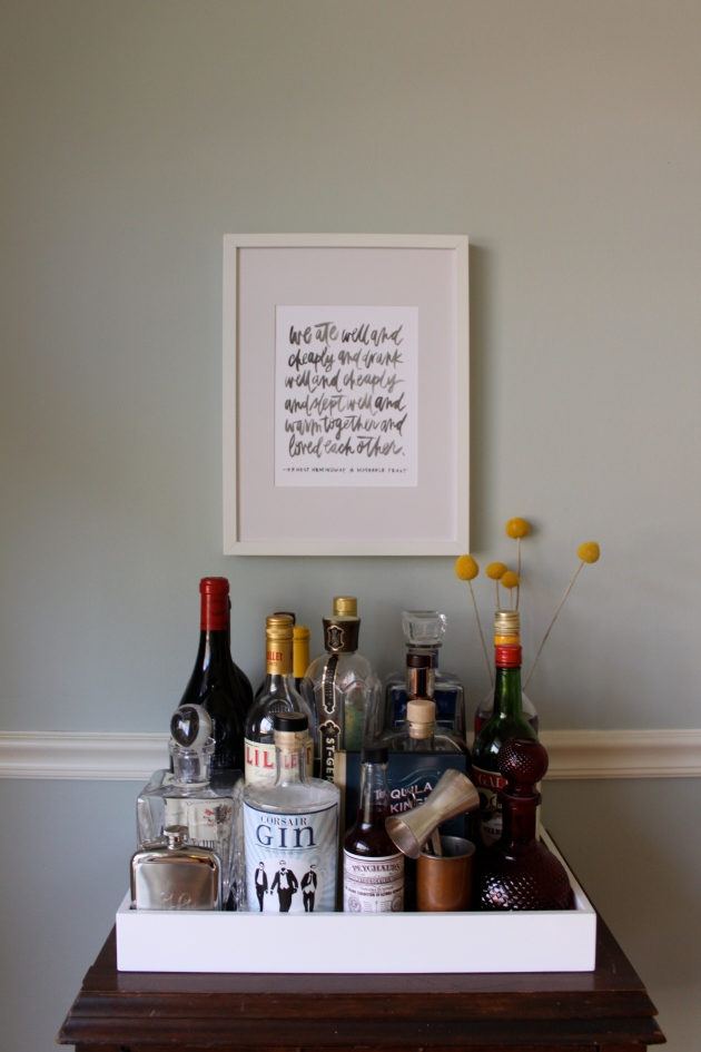 bar 'cart' styling | madeline made