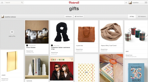 gift guide board | madeline made