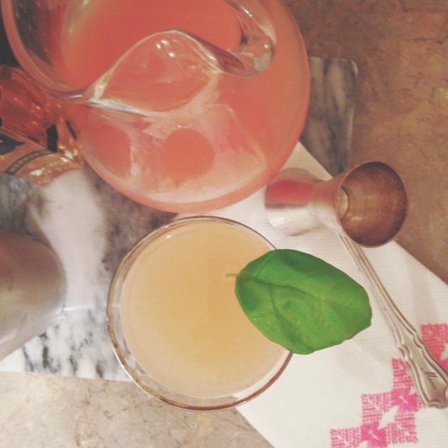 grapefruit basil paloma | madeline made