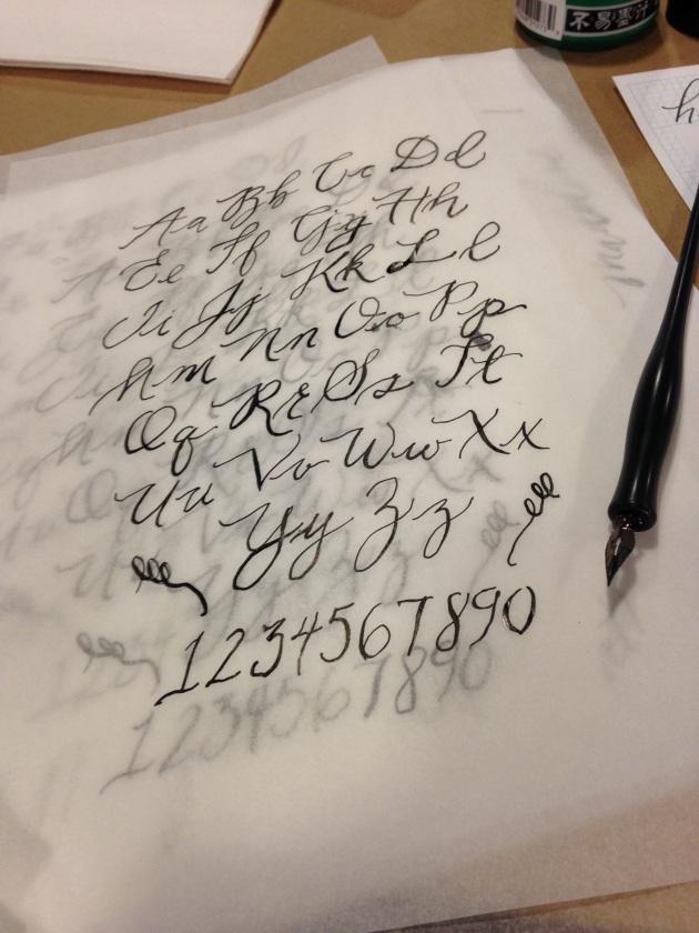 modern calligraphy | madeline made